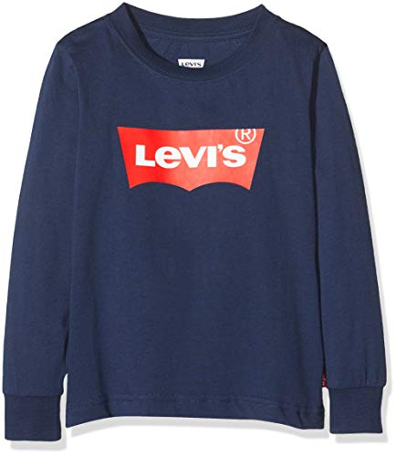 Levi's Kids Lvb L/S Batwing Tee Langarmshirt - Jungen Dress Blues 12 Jahre