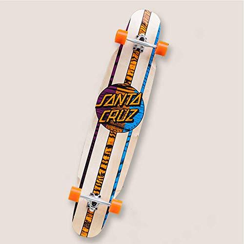fgg Skateboard Bailando longboards Freestyle Fessionyle Mini para Principiantes y Tablero de Scooter deformado 8-caply Arce y Smooth PU Ruedas Bien fengong (Color : B)