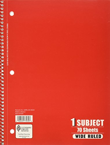 1 Subject Notebook 70 Sheets - Package of 5