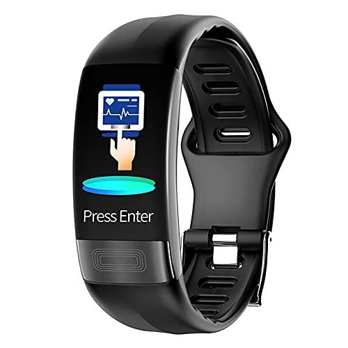 ZGZYL P11 Señoras Reloj Inteligente con La Presión Arterial De La Frecuencia Cardíaca ECG + PPG De Control Deportivo Brazalete Rastreador De Ejercicios Podómetro Inteligentes Pulsera Inteligente,A