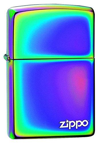 Zippo Aansteker - met logo, messing, spectrum, 3,5x1x5,5 cm
