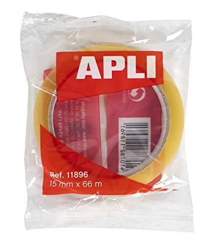 APLI 11896 - Cinta adhesiva celo transparente 15 mm x 66 m