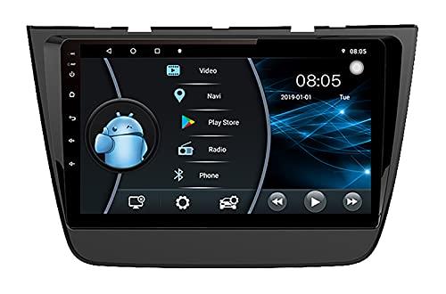 AEBDF Autoradio Android con Navigazione GPS Bluetooth Touch Screen da 9 Pollici Autoradio Supporto WiFi FM Mirror Link per MG ZS,6 Core WiFi 4G 2+32 1din