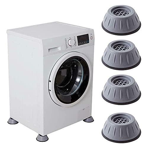 4 piezas de soporte para lavadora con cancelación de ruido y golpes, almohadillas antivibración para lavadora y secadora, pedestales de lavadora, almohadillas para pies de lavadora (S)