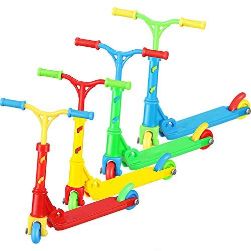 Greatideal Mini Juego De Juguetes para Dedos, 4 Piezas De Mini Scooter De Simulación para Dedos, Modelo Educativo para Niños, Dos Ruedas, Scooter para Dedos, Bicicleta, Diapasón, Patineta, Juguetes