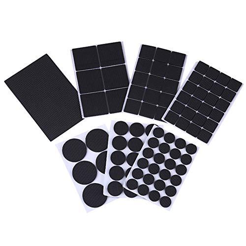 Juego de 7 almohadillas de goma antideslizante y autoadhesivas, color negro, multifunción, para mesa, sillas, taburetes, muebles, resistente al desgaste, protector de pierna