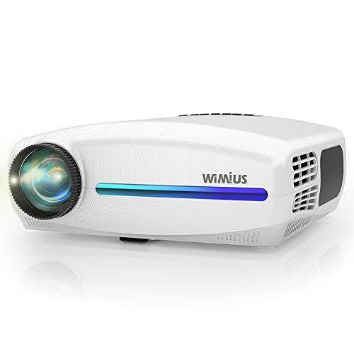 Native 1080P Projector, WiMiUS Upgrade 6800Lux HD Home & Outdoor Movie Projector, Support 4K Dolby Audio w/ 10W Speaker & 4D ±50° Keystone Cor, Compatible with Fire TV Stick, PS4, Laptop, iPhone