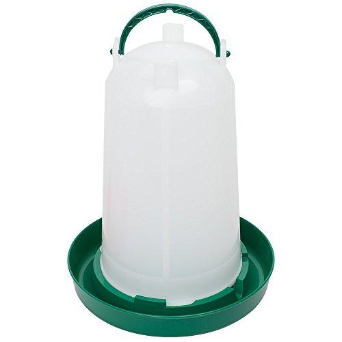 Geflügeltränke 3 Liter, Hühnertränke, Stülptränke, Geflügel-Stülptränke, Kükentränke, Wachteltränke mit Bajonettverschluss und Aufhängung