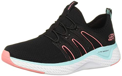 Skechers Solar Fuse-Electric Pulse, Zapatillas sin Cordones Mujer, Multicolor (BBLP Black Mesh/Blue & Pink Trim), 38 EU