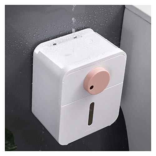 Caja para Pañuelos de Papel Soporte de tejido de doble capa Puede abrir fácilmente la tapa Cambiar el papel con solo un botón y una caja de tejido con cajones para almacenar artículos personales Caja