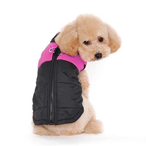Ectkuee Winter Warm Pet Hund Kleidung klein wasserdichte Hundemantel Jacke Winter Gesteppt Gepolstert Puffer Pet Kleidung