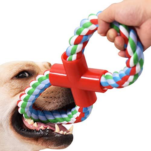 VIEWLON Hundespielzeug Seil für Starke große Hunde - Form 8 Zerrspielzeug Hund Robuste Kauspielzeug Tau, Hundeseile interaktive Kauen Spielzeug für mittlere und große Hunde
