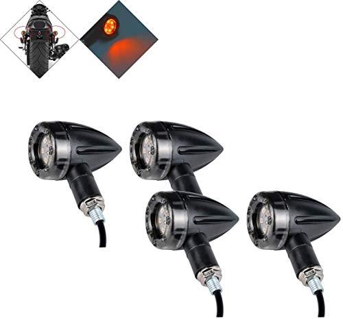 HANEU 4 STÜCKE Universal Motorrad Blinker Mini Bullet Blinker Bremse Hinten laufende Lichter