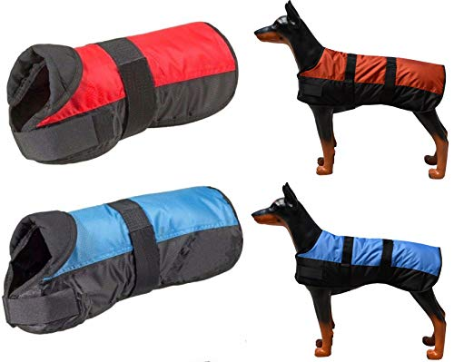 FavoPet Winter HUNDEMANTEL EISBÄR (30cm, Blau)
