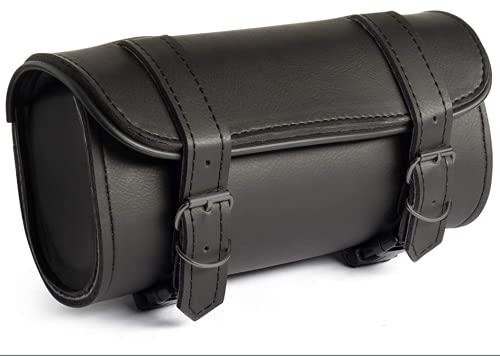 SZDCKJ Motorcycle Storage Bag PVC Leather Tool Bag Saddle Bag