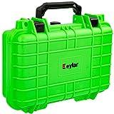 Eylar Tactical Hard Gun Case Water & Shock Proof with Foam TSA Approved 11.6 Inch 8.3 Inch 3.8 Inch (Neon Green)