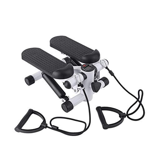 WSN Inicio Mini Stepper Air Stair Climber, Aerobic Fitness Equipo de Ejercicio con Pantalla LCD Home Gym,Blanco