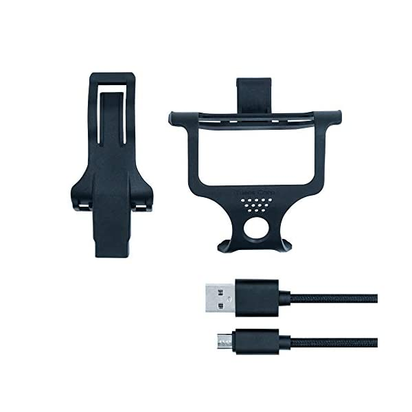 Mcbazel Tuact Anti-Loose Game Controller Cable and Mounting Holder Kit for PS4 Daulshock 4 Controllers
