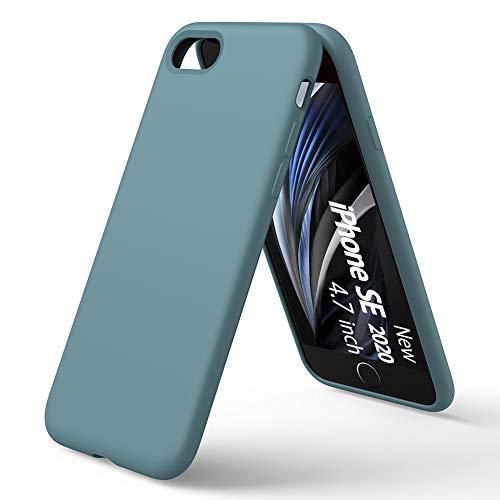 ORNARTO Coque intégrale en silicone liquide compatible avec iPhone ...