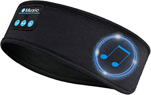 Schlaf Kopfhörer Ohrstöpsel,ChenFec Kabellos Bluetooth V5.0 Sport Stirnband Kopfhörer mit Ultradünnen HD Stereo Lautsprecher,Perfekt für Sport, Seitenschläfer, Flugreisen, Meditation und Entspannung