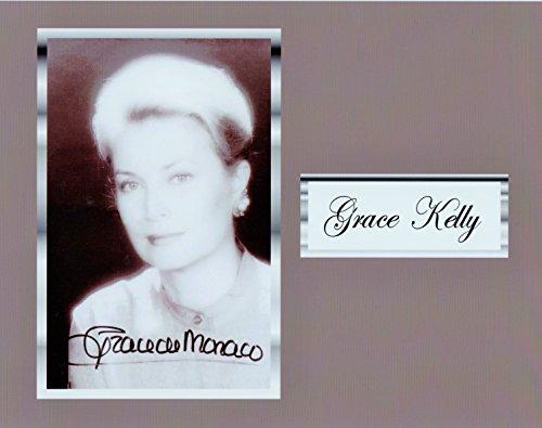 Princess Grace Kelly 8 X 10 Photo Display Autograph on Glossy Photo Paper