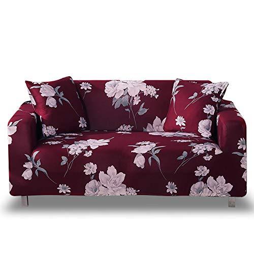 HOTNIU 1-delige pasvorm Stretch bank Covers - Lichtgewicht Gemakkelijk Gaan met Elastische Bodem Sofa Slipcovers - Polyester Spandex Bedrukte Meubelbescherming met Anti-Slip Foam