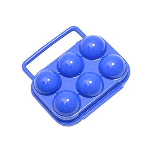 Ei Draagbare Doos, Eieren Container Houder Plastic Opbergdoos Vouwen Ontworpen voor het dragen van de eieren gemakkelijk (Kleurvrij) 15 * 14.5 * 6.8cm Willekeurige kleur