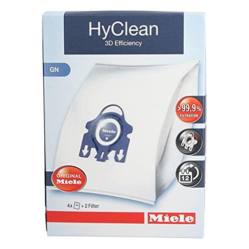 Originale sacchetti per aspirapolvere Miele GN HyClean 3D S400S600S800S5000 (confezione da 4+ filtri)
