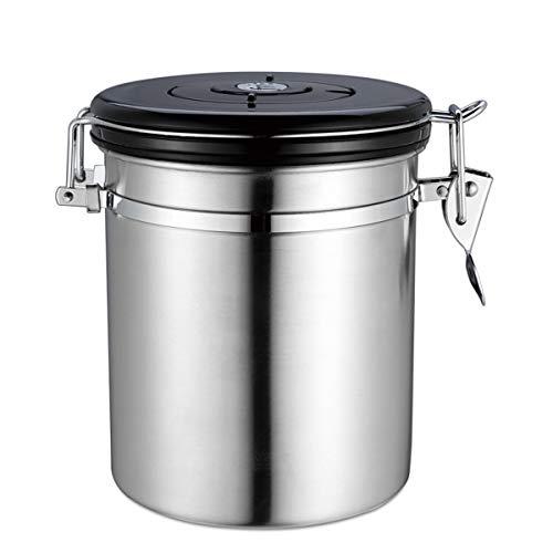 Kitchnexus Kaffeedose Teedose Luftdicht, Kaffeebehälter, Kaffeedose Edelstahl Aromadose Vorratsdose Vakuum Dose Ideal für Kaffeebohnen, Tee, Nüsse