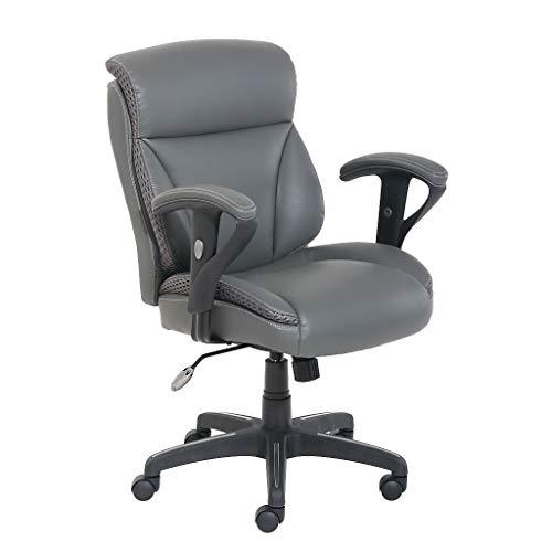 Dormeo C200 Leather Task Chair, Slate Gray