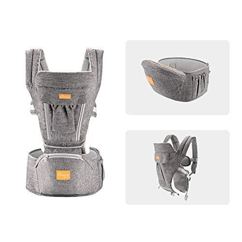 Staright Porta-bebês tumama com assento de quadril Respirável e removível Design Alça ajustável Bolso lateral Multifuncional ergonômico Porta-bebês de cintura para bebês de 3 a 30 meses.