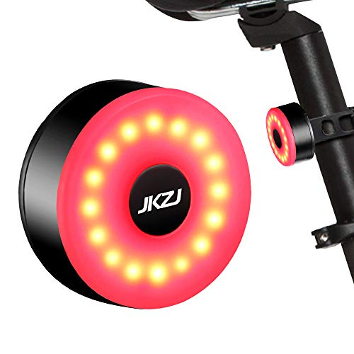 JKZJ Rear Bike Light Rechargeable with 5 Modes, Waterproof bicycle Lights...