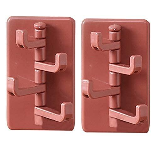 LPQSY Ganchos de suspensión de Pared Ganchos Adhesivos Ganchos Adhesivos, Ganchos giratorios, Estante de Pegado sin Golpe, detrás de la Cocina Puertas de Pared (Color: D) (Color : B)