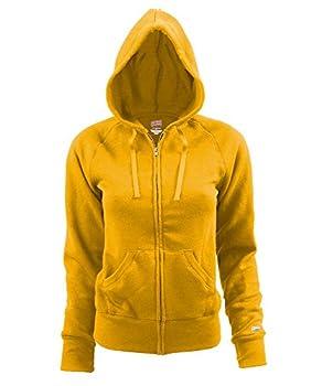 Soffe womens Rugby Zip Hoodie Hooded Sweatshirt Light Gold Medium US