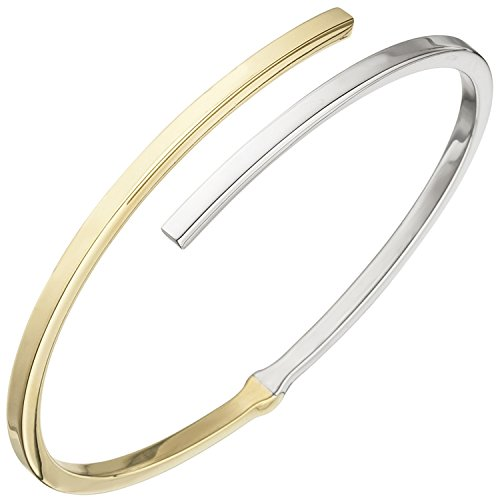 JOBO Armreif Armband oval 925 Sterling Silber bicolor vergoldet