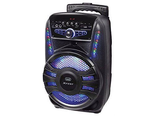 Trevi XFEST XF 450 Altoparlante Amplificato Portatile con Trolley, Mp3, USB, Bluetooth e Batteria Integrata, Karaoke Party Speaker con Microfono Incluso