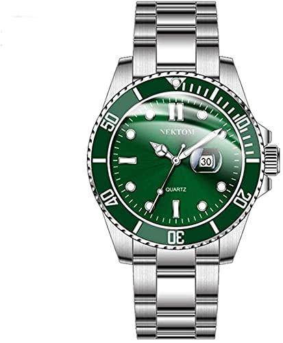 Conemmo Negocio de la Correa de Acero de la Tendencia de la Tendencia de la Moda del Negocio del Negocio de los Hombres Reloj New Watch, b