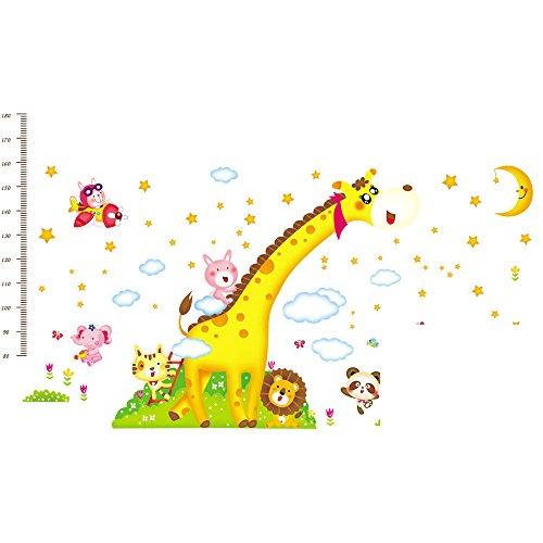 Winhappyhome Giraffe Kinder \'S HöHe Maß Diagramm Wand Kunst Aufkleber für Kinderzimmer Kinderzimmer Café Hintergrund Entfernbare Dekor Abziehbilder