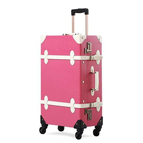 GSAGJlgx Premium Vintage Luggage Sets 24'Trolley-Kofferset mit TSA-Schlössern (Size : 24')