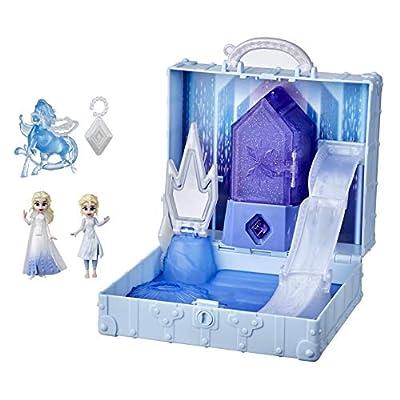Disney Frozen 2 Pop Adventures Ahtohallan Adventures Pop-Up Playset with Handle, Including 2 Elsa Dolls, Toy for Kids