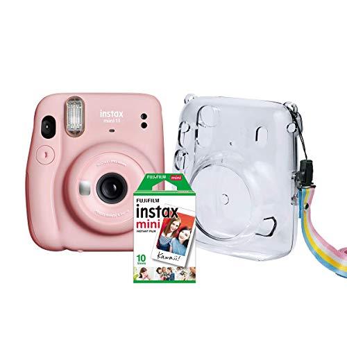 Kit Câmera Instax Mini 11 Fujifilm do Brasil - Rosa Bolsa