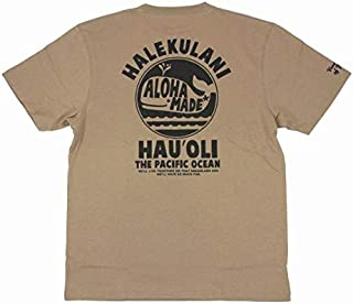 ALOHA MADE アロハメイド メンズ 半袖 Tシャツ (メンズ L.ベージュ) 202MA1ST045BG フララニ サーフブランド ハワイアン (L)