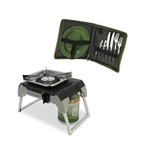 G8DS Anglerset, Campingset, Outdoorherd/Kochstelle + Besteckset, Angeln, Outdoor, Freizeit