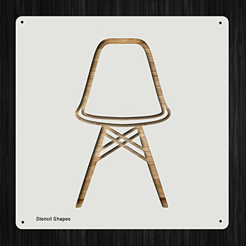 Eames Chair Vitra Graph Home Piece Plastic Mylar Stencil for Painting, Walls and Crafts, Item 1080304