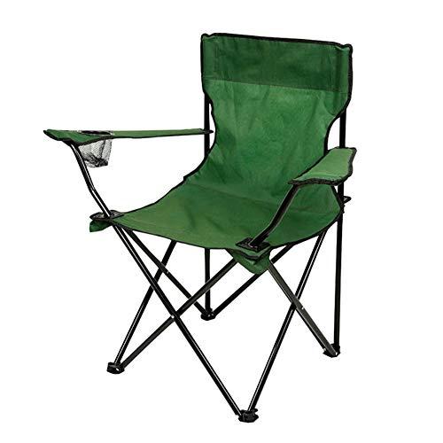 Fauteuil de Camping Pliable avec Porte-gobelets, Facile à Installer, résistant aux UV et Facile à Nettoyer - Cadre léger pouvant Supporter jusqu'à 100 kg avec Sac de Rangement Gratuit,Vert