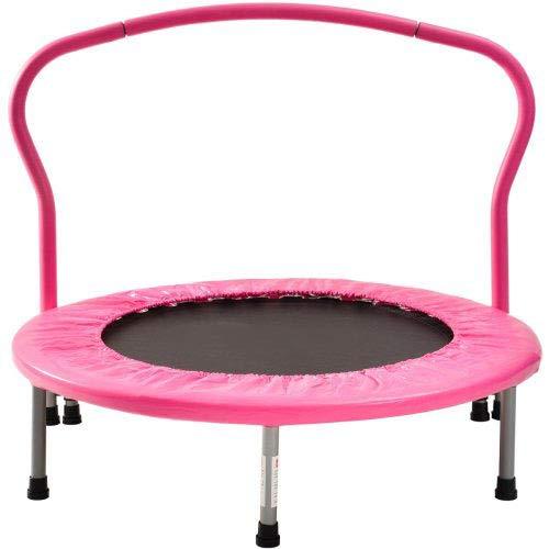 XTD BTM Trampoline Folding Trampolines- Indoor Trampoline For Fitness Training Mini Trampoline For Kids Children's Trampoline- Max User Weight 80kg (Pink) A
