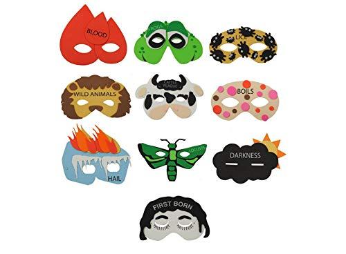 Rite Lite Passover 10 Plague Masks Decorations For Pesach Seder