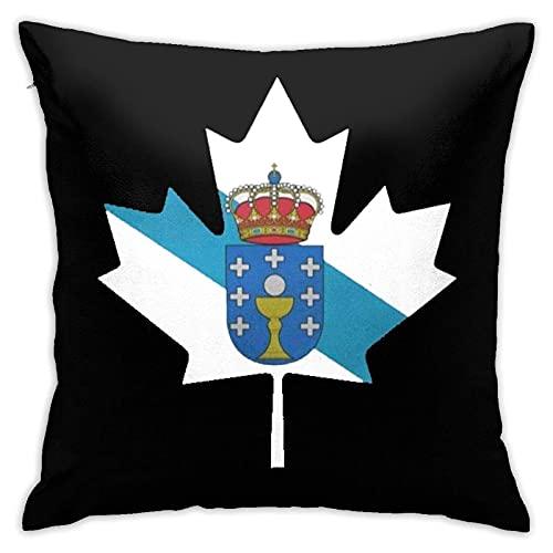 XCNGG Fundas de Almohada Decorativas cuadradas de 18x18 Pulgadas, Fundas de Almohada con la Bandera de Galicia de Canadá, Fundas de cojín para sofá, Dormitorio, Coche