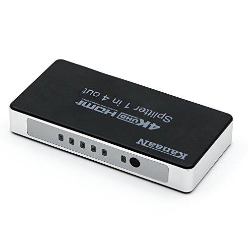 KanaaN - Splitter HDMI 1x4 Splitter Switch | Supporta segnali UHD UHD-TV, 3D, 4K, 4K*2K| Arc | Attacco Corrente Inglese UK