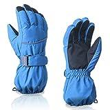 Achimer Guantes de esquí, guantes de invierno para niños, hombres y mujeres, impermeables, guantes de invierno, antideslizantes, guantes térmicos para exteriores, para esquí, snowboard, senderismo